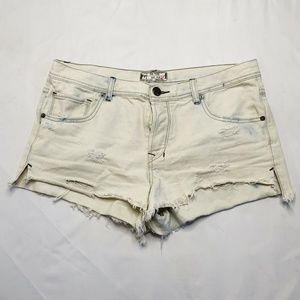 Free People Short Denim Jeans Sand Light (M17)
